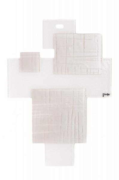 Glas Kreuz - Rechtecke & Weiß