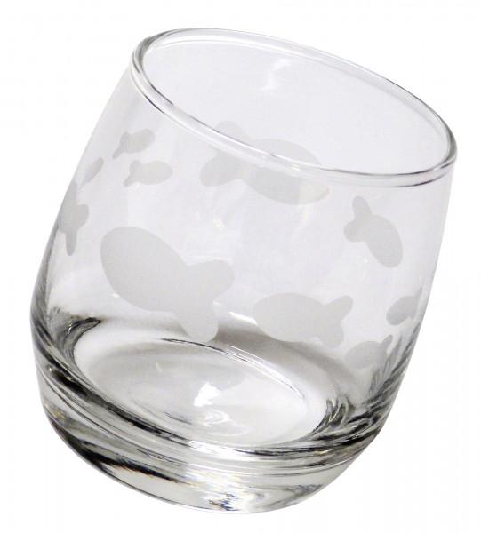 Glas - Wackelglas mit Fischen