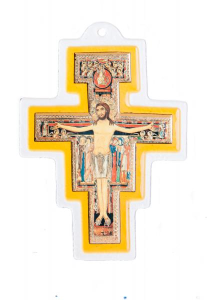Glaskreuz - Franziskus-Kreuz & 17 cm