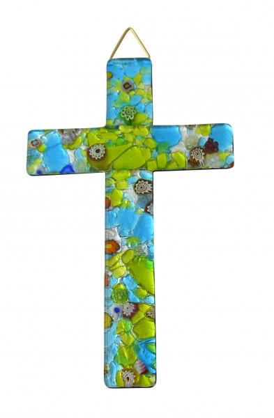 Glaskreuz - Murano & Maserung