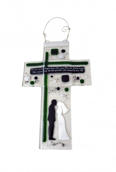 Glaskreuz zur Hochzeit - Pärchen