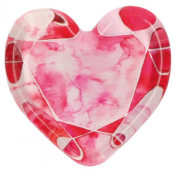 Glasmagnet - Herz & Für dich