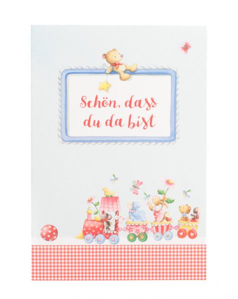 Glückwunschkarte zur Geburt - Schön, dass du da bist