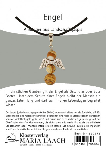 Halskette - Engelanhänger & Landschaftsjaspis