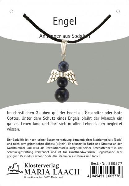 Halskette - Engelanhänger & Sodalith