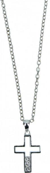 Halskette - Kreuz und Steinchen