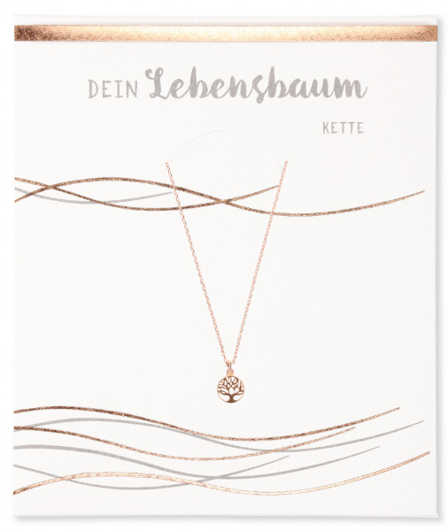Halskette - Lebensbaum & Roségold
