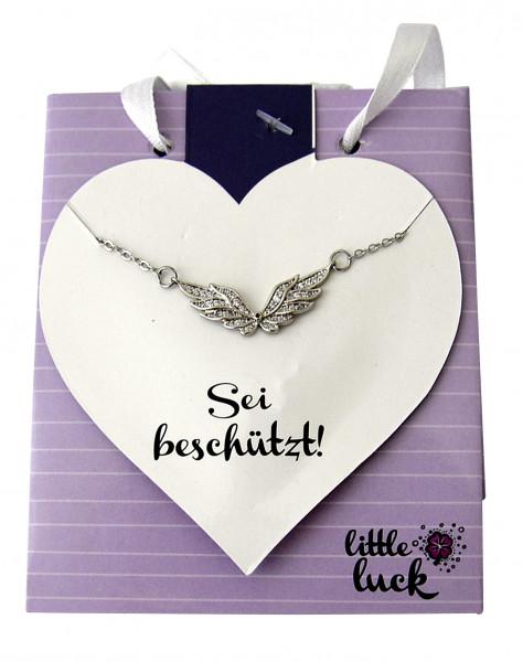 Halskette - Sei beschützt & Flügel