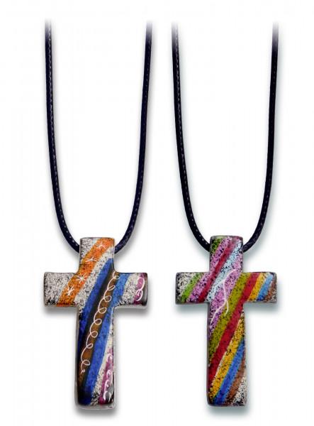 Halskette - Speckstein-Kreuz