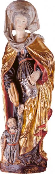 Heiligenfigur - Hl. Elisabeth mit Bettler