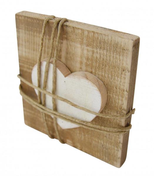 Holzbildtafel - Herz