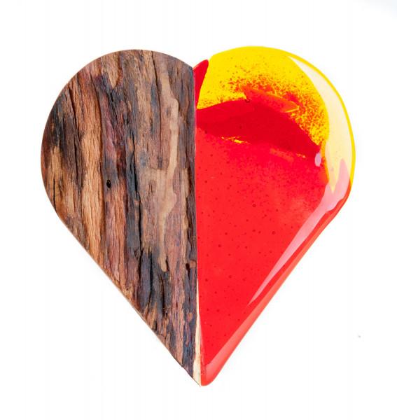 Holzskulptur - Herz