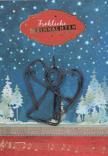 Karte zu Weihnachten - Winternacht & ...