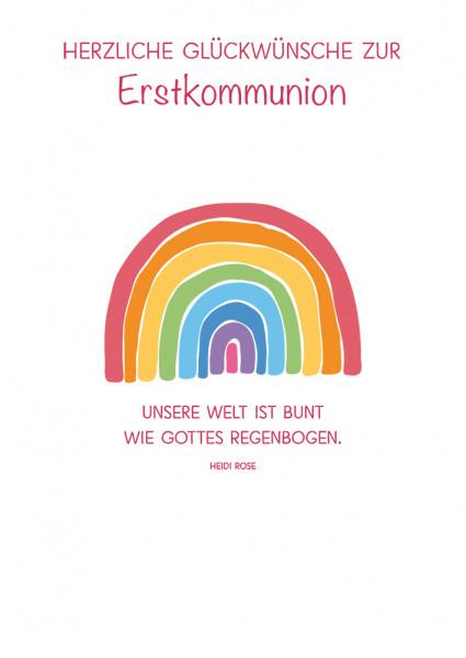 Karte zur Erstkommunion - Gottes Regenbogen