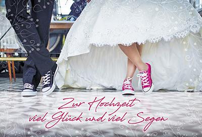 Karte zur Hochzeit - Viel Glück und viel Segen