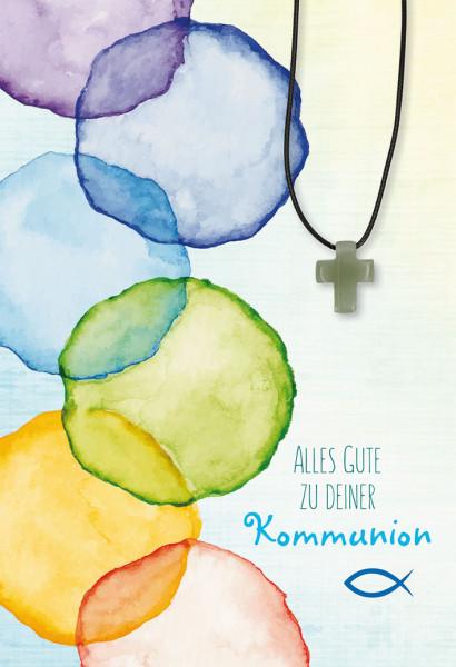 Karte zur Kommunion - Gottes Schöpfung & Halskette