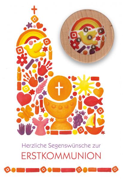 Karte zur Kommunion - Kirche & Geduldspiel