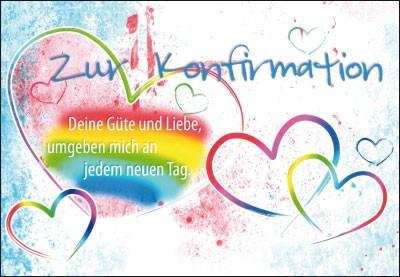 Karte zur Konfirmation - Deine Güte und Liebe umgeben ...