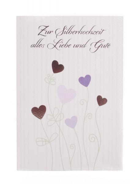 Karte Zur Silberhochzeit Liebe Allein Artikel Nr 357 004