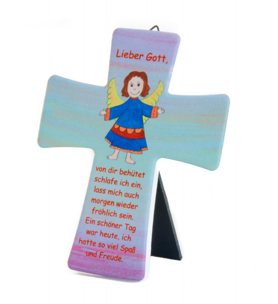 Keramikkreuz - Kleiner Engel