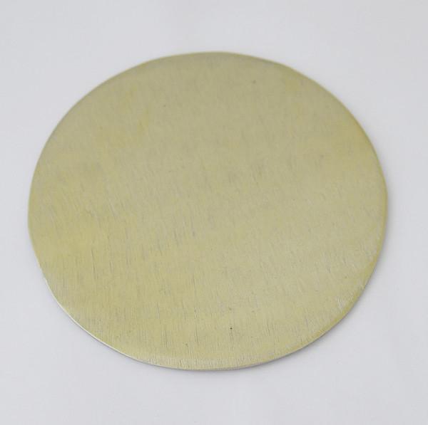 Kerzenteller - Gebürstet & Goldfarben