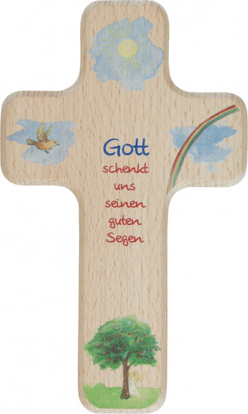 Kinderholzkreuz - Gottes Segen
