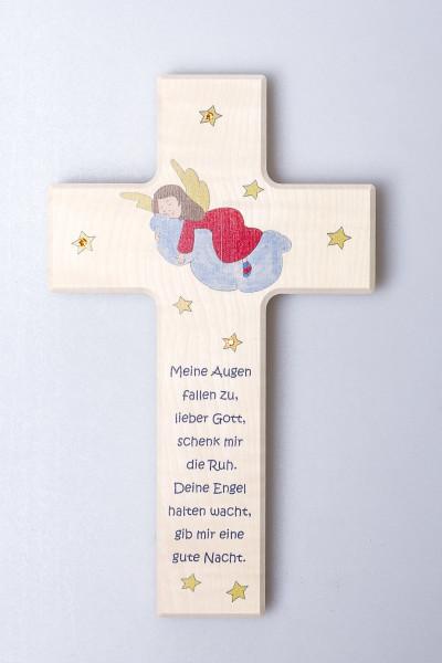 Kinderkreuz - Engel & Kristallsteinchen