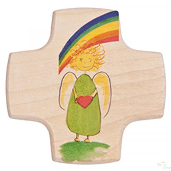 Kinderkreuz - Engel & Regenbogen