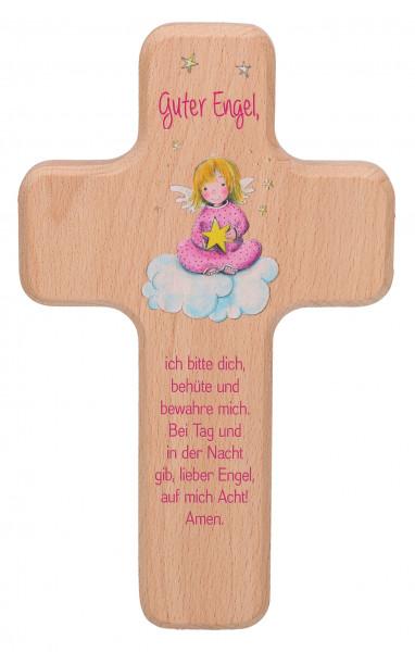Kinderkreuz - Guter Engel & Rosa