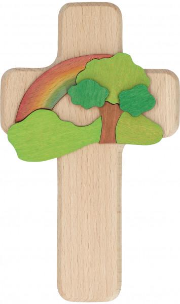 Kinderkreuz - Intarsienholz & Baum