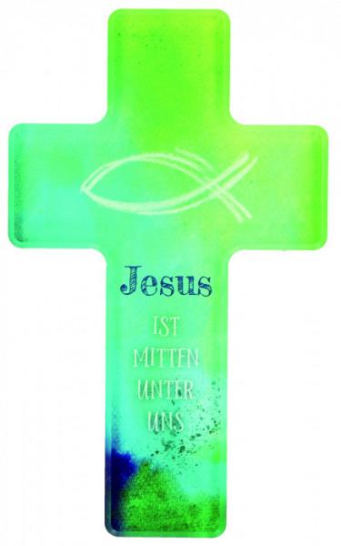 Kinderkreuz - Jesus ist mitten unter uns & Fisch