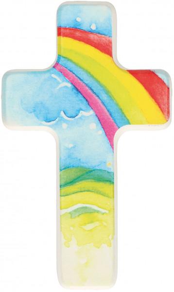 Kinderkreuz - Regenbogen & Wolke
