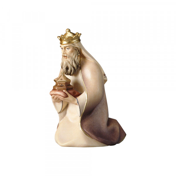 Komet-Krippe - König weiß kniend
