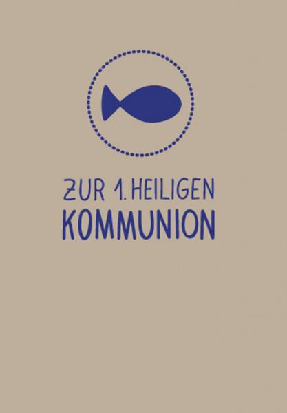 Kommunionkarte - Fisch im Kreis