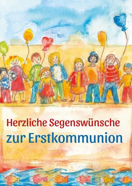 Kommunionkarte - Kinderschar