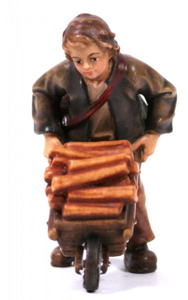 Kostner-Krippe - Bub mit Holzkarren