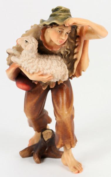 Kostner-Krippe - Junge mit Schaf im Arm