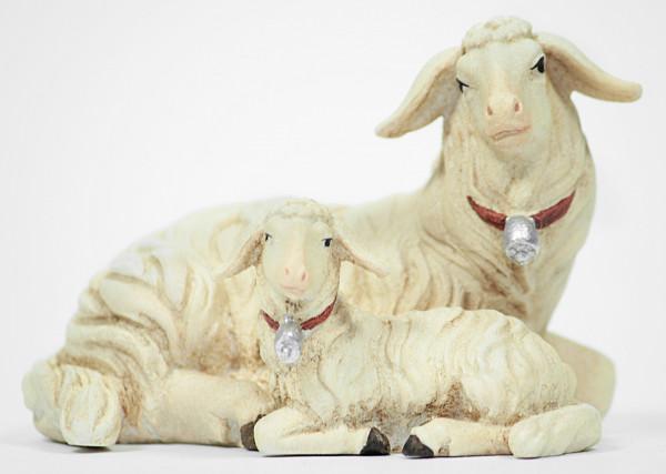 Kostner-Krippe - Schaf liegend mit Lamm