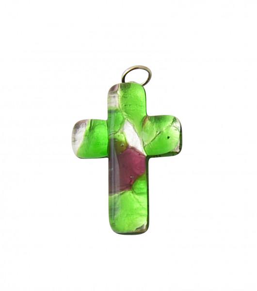 Kreuz-Anhänger - Muranoglas