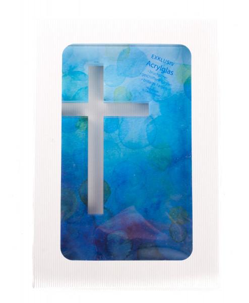 Kreuzrelief - Durchbrochen & Blau