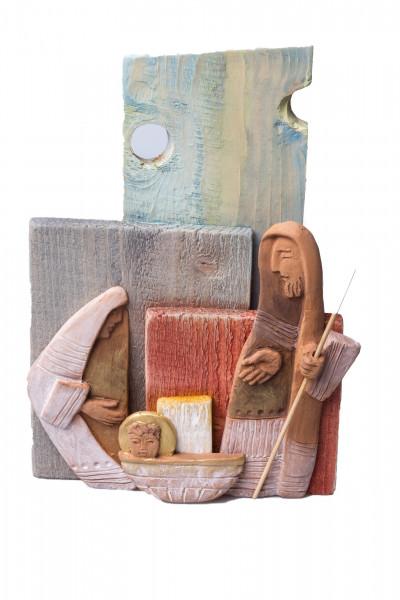 Krippendarstellung - Heilige Familie & Handarbeit