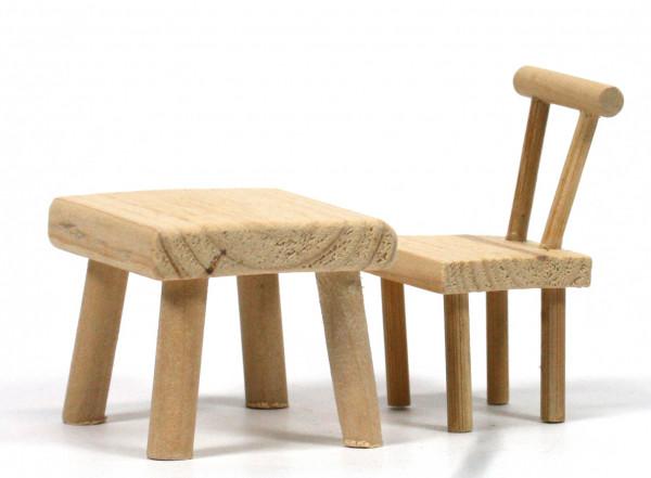 Krippenzubehör - Tisch & Stuhl