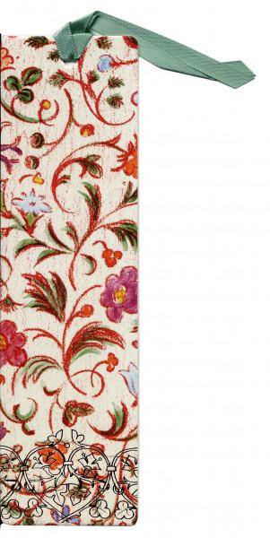 Lesezeichen - Kunstdruck & Rote Blumen