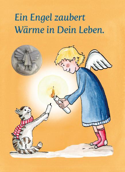 Mini-Plakette - Ein Engel zaubert Wärme...