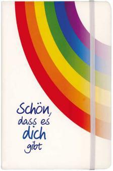 Notizblock - Schön, dass es dich gibt & Regenbogen