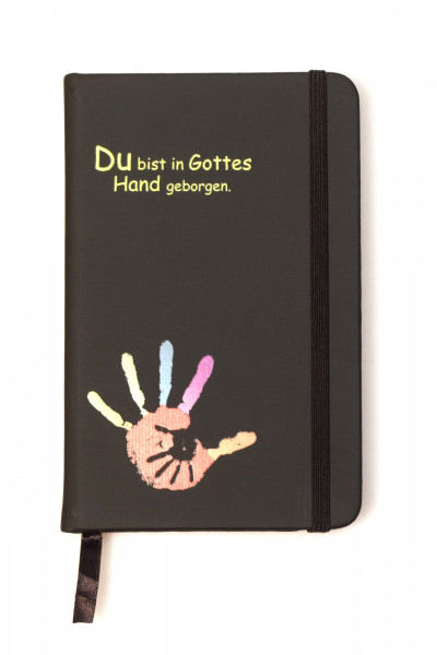 Notizbuch - Du bist in Gottes Hand geborgen & Schwarz
