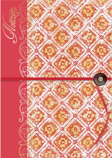 Notizheft - Rote Ornamente