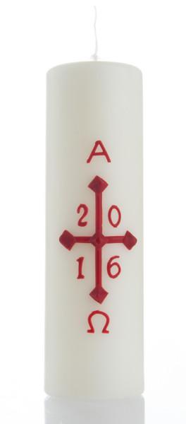 Osterkerze - 20 cm mit Jahreszahl 2018