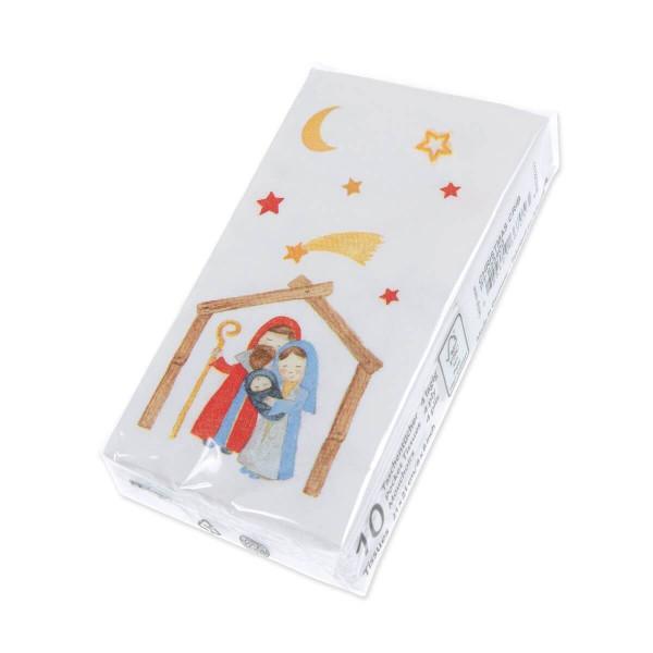 Papiertaschentücher - Krippe & Sternenhimmel