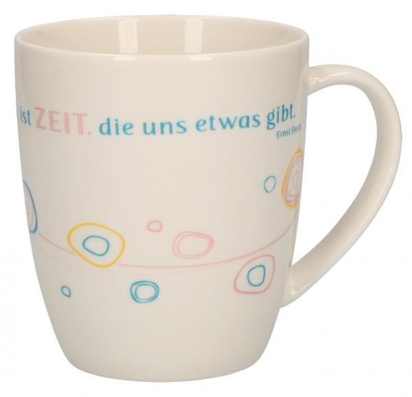 Porzellan-Tasse - Zeit